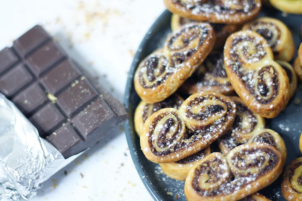 Recette des Palmitos sucrés au Nutella et noisettes par fannyalbx.com
